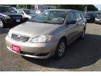 2007 Toyota Corolla CE**NO ACCIDENT** 3 YEAR WARRANTY INCLUDED**