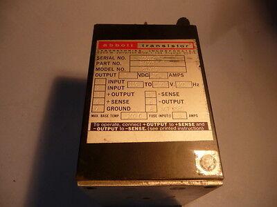 Abbott Transistor Military Power Supply W5dy2.5 724503 110-130v 400hz 10 Amp