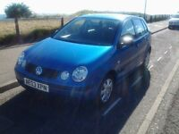 polo 5 door, low mileage mint for year 2003 07761885557