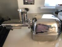 Angel 8500 S twin gear juicer with surgical steel parts