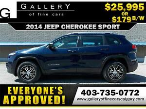 2014 Jeep Cherokee Sport 4x4 $179 bi-weekly APPLY NOW DRIVE NOW