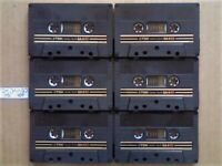 A2Z VERY RARE 6x TDK SA-X 60 DUAL LAYER CHROME CASSETTE TAPES 1982-1984 GOLD & BLACK ISSUE