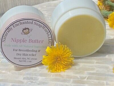 Nipple Butter Natural Balm Breastfeeding moms moisturize dry cracked skin Lotion - Natural Nipple Butter