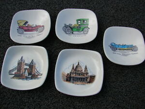 5 pcs sets small plates-wade in made in England