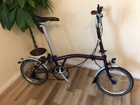 (reduced) Brompton M3L Folding Bike