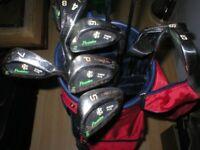 Set of pinseeker golf clubs