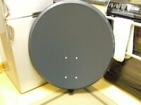 80cm Satellite dish and mounting bracket