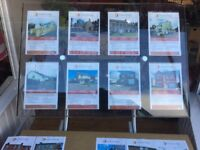 2 x Window displays currently used in estate agent window.
