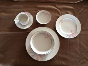 Carico fine china, set of 9 place settings 74 pieces
