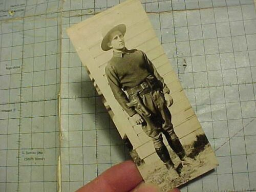 ORIGINAL WWI PHOTO GI W/ .45 IN OPEN HOLSTER