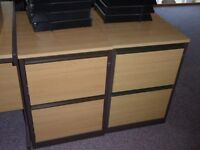 Qty 2 Lee & Plumpton 2 filing drawer free standing unit