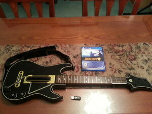 (VERY MINT!) PLAYSTATION PS4 GUITAR HERO COMPLETE SET