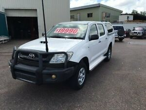2010 Toyota Hilux KUN26R 09 Upgrade SR (4x4) White 5 Speed Manual Dual Cab Pick-up Berrimah Darwin City Preview