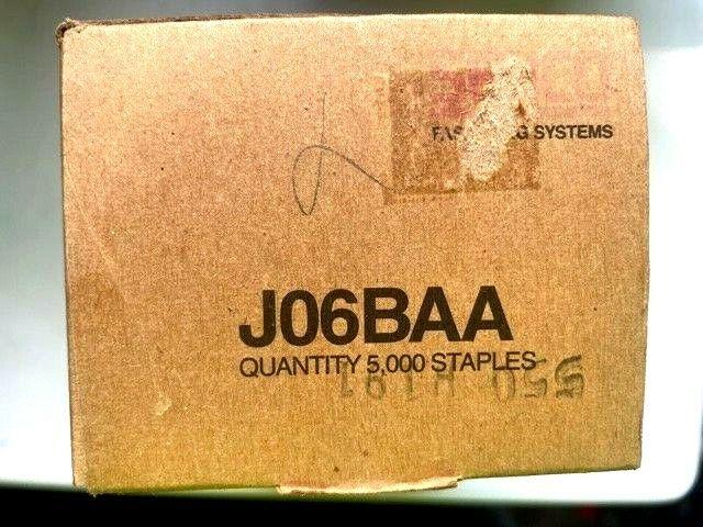 "5000 BRAND NEW SENCO J06BAA F WIRE 20 GA STAPLES 1/2"" CROWN 3/8"" FULL BOX"