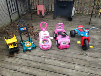 Infant and children's outside toys.