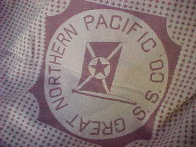 Vintage Old Great Northern Pacific S.S. CO Blanket Steamship Boat Passenger Ship for sale  Lafayette