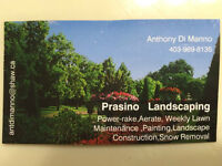 Prasino Landscaping!  Where Quality and Value mean Something!