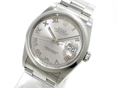 Auth ROLEX Datejust 16200 Silver D593081 Men