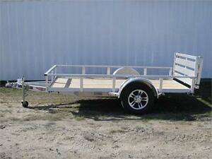 H&H 5' x 10' Rail Side Aluminum Utility Trailer