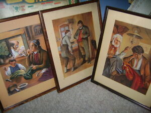 THREE NICE OLD FRAMED PRINTS