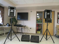 Yorkville Audio Pro 508 w/Peavy Speakers. Monitors and Stands