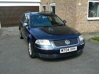 2004 VW PASSAT ESTATE 1.9L TDI PD ENGINE (130 BHP) 99340 MILES, LEATHER SEATS,