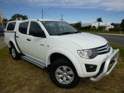 2011 Mitsubishi Triton MN MY11 GL-R White 4 Speed Automatic Dual Cab Utility Horsley Wollongong Area Preview