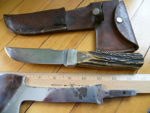 Ka-bar Hatchet (AX) Knife Combo STAG Handles Kabar + Sheath