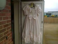 pale pink wedding dress