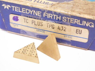 New Surplus 3pcs. Teledyne Tpg 432 Grade Tc Carbide Inserts