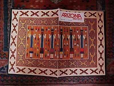 ARIZONA HIGHWAYS JULY  1974  SOUTHWEST INDIAN WEAVING-GREAT PHOTOS NAVAJO RUGS