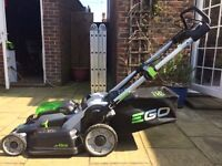 EGO Power Plus Mower 56 volt 4 ah battery and charger with 60 litre collection - as new