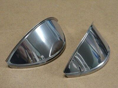 VOLKSWAGEN STAINLESS STEEL HEADLIGHT EYEBROWS PAIR FOR VW BUG BUS GHIA AC941301