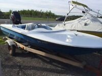 15.5 Ft. SPEED BOAT & TRAILER
