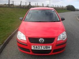 Volkswagen Polo 1.2 ( 55PS ) 2007MY E ONLY 46100 Mls MOT 9/4/18 3 Dr Red 2 Keys