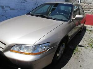 2000 Honda Accord EX Auto Leather Sunroof Gold 270,000Km