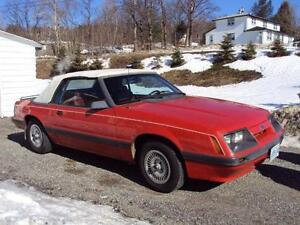 1986 Ford Mustang Convertible 2500.00 or best offer