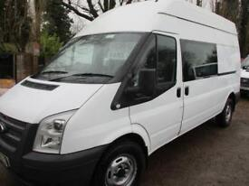 2012 Ford Transit 2.2TDCi CREW VAN 6 SEAT 350 LWB NO VAT 40000 MILES GUARANTEED
