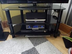 black glass tv stand 42 inches