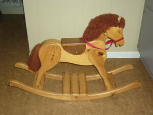 Hand-crafted Solid Wood Rocking Horse