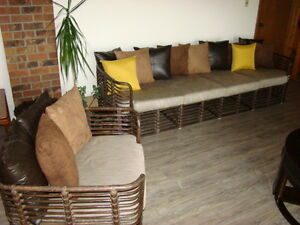 Rattan Couch and Chair