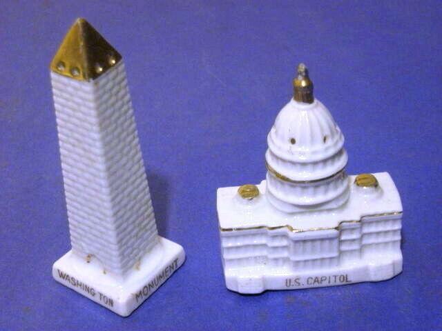 Vintage Washington DC Salt & Pepper Shaker Monument US Capitol Japan