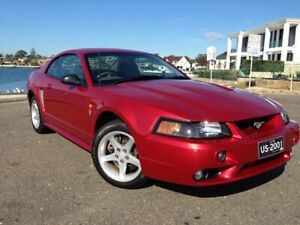 2001 Ford Mustang Cobra Maroon 5 Speed Manual Coupe Sylvania Sutherland Area Preview