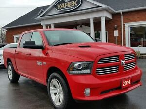 2014 Ram 1500 Sport 4x4, Leather Heated/Vented Seats, NAV, Air S