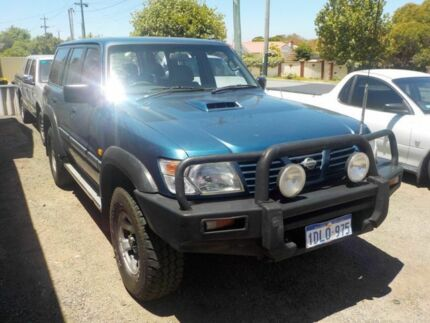 2000 Nissan Patrol GU II ST Blue 5 Speed Manual Wagon Victoria Park Victoria Park Area Preview