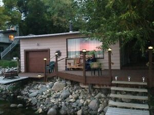 Newly renovated lakefront cabin at Katepwa