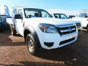 2010 Ford Ranger PK XL 4x2 Hi-Rider Winter White 5 Speed Manual Cab Chassis Mount Druitt Blacktown Area Preview
