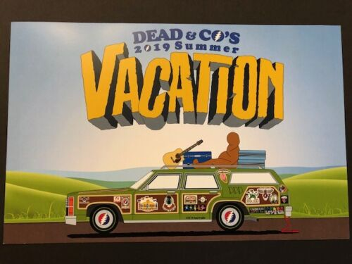Grateful Dead & Company Limited Edition 2019 Summer Vacation Poster
