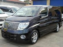 2005 Nissan Elgrand E51 Highway Star Harlequin Black 5 Speed Tiptronic Wagon Caringbah Sutherland Area Preview