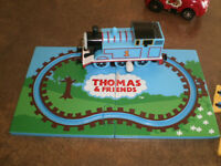 Thomas The Train Wind-Up Toy with other train and car track